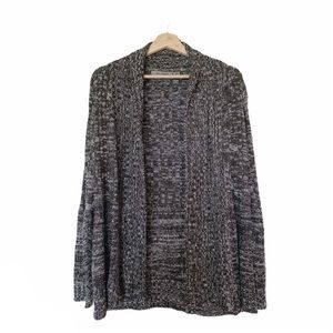 Jason Maxwell Black Marled Open Cardigan PM